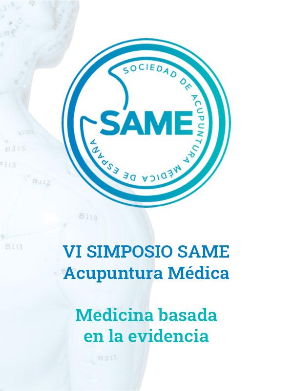 Nota de prensa del VI Simposio SAME - Acupuntura Médica: Medicina basada en la evidencia